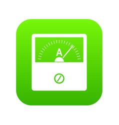 Counter icon digital green vector