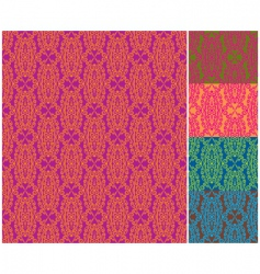 damask wallpaper patterns vector image vector image