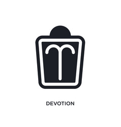Devotion isolated icon simple element from zodiac vector