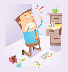 disappointed office worker vector image