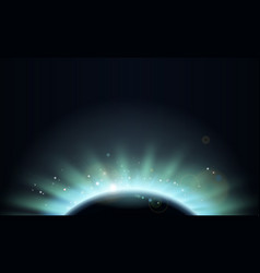 Eclipse sun planet background vector