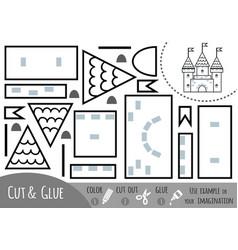 education paper game for children castle vector image