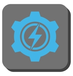 Electric Cogwheel Rounded Square Button vector