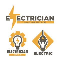 Electrician service and electric repair works vector