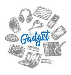 electronic gadgets collection vector image