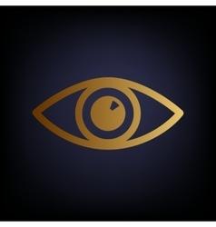 Eye sign Golden style icon vector