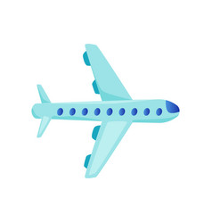flat airplane icon vector image