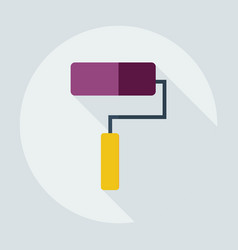 Flat modern design with shadow icons roller vector