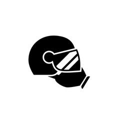 Flight helmet and protective gear glyph icon vector