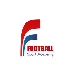 football or soccer sport academy icon design vector image