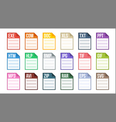 format file various pictogram file format vector image