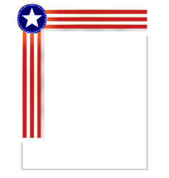 Frame corner with american symbols vector
