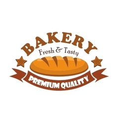 Fresh and tasty bread bagel Bakery emblem vector