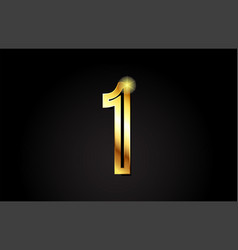 gold number 1 one logo icon design vector image
