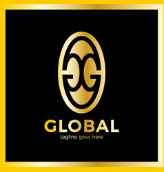 Great global group logo vector