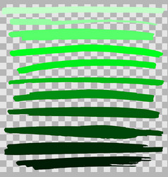 green highlighter hand drawing vector image