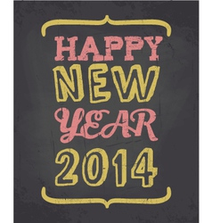 happy new year Chalkboard style greeting card vector image