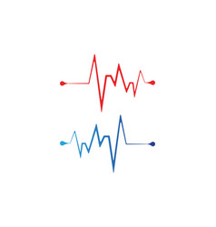 heart beat line vector image