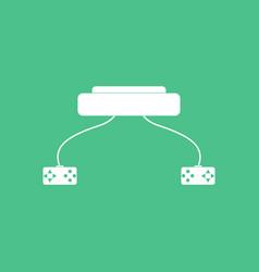 Icon children game console vector