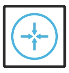 Impact Arrows Framed Icon vector