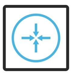 Impact arrows framed icon vector