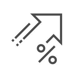 Increase price icon vector