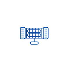 Infrared heater line icon concept infrared heater vector
