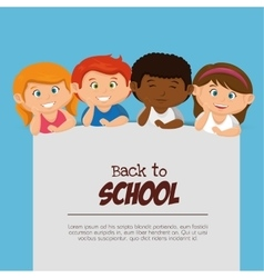 kids back to school design vector image