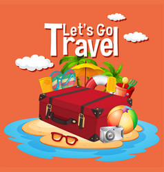 lets go travel template vector image
