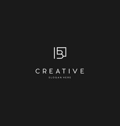 Letter b creative business logo design vector