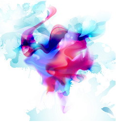 magenta and blue colorful blot spread to light vector image