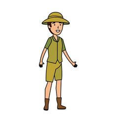 Man worker zoo character vector