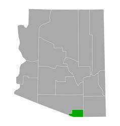 Map santa cruz in arizona vector