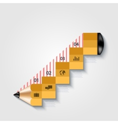modern pencil infographics vector image