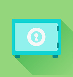 money safe icon in flat style on green background vector image