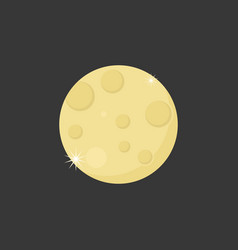 Moon with crater icon vector