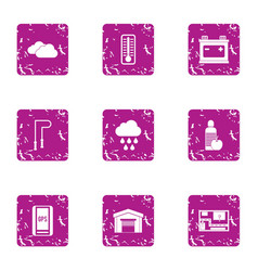 Movement icons set grunge style vector