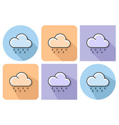 outlined icon of heavy rainfall with parallel and vector image