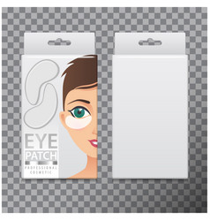 package of hydrating under eye gel patches vector image