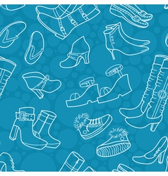 Pattern with shoes vector