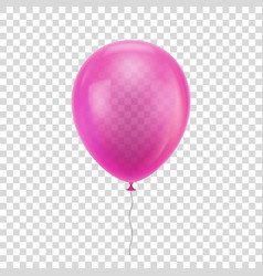 pink realistic balloon vector image