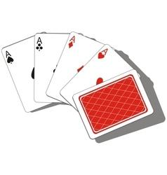 Playing card set 01 vector image