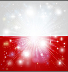 polish flag background vector image