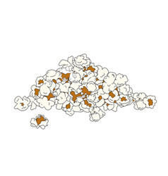 Popcorn pile isolated on white vector