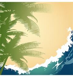 Seashore background vector