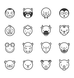 set animal icons eps10 format vector image