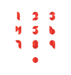 set of abstract number icons vector image