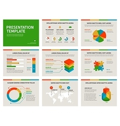 Set of Presentation Template 3D infographic vector