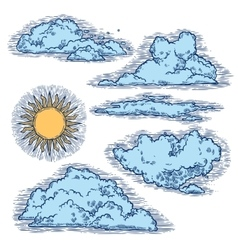 Sky And Clouds Color vector