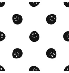 smiling lime pattern seamless black vector image